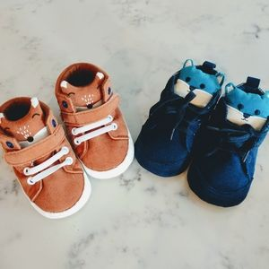 Other - 2 pairs Kids soft soles shoes